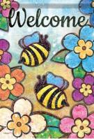 Bumble Blossoms Dura Soft Garden Flag