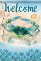 Indigo Lagoon Crab Dura Soft House Flag