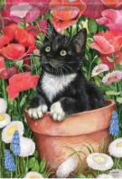 Flower Pot Kitten Dura Soft Garden Flag