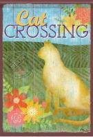 Cat Crossing Dura Soft Garden Flag