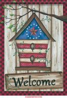 Barn Star Birdhouse Dura Soft Garden Flag
