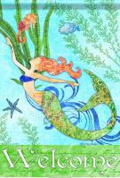 Mermaid Welcome Garden Flag