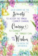 Serenity Courage Wisdom Garden Flag