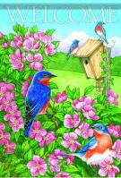 Bluebird Beauty Garden Flag