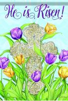 Easter Inspiration Glitter Garden Flag