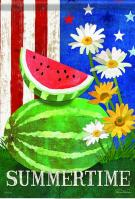 Watermelon Joy Garden Flag
