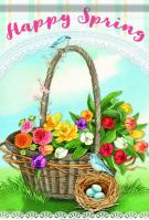 Spring Basket Garden Flag