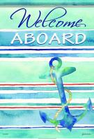 Welcome Aboard Garden Flag