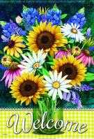Sunflower Bouquet House Flag