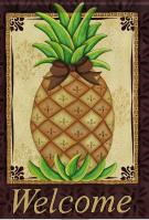 Welcome Pineapple House Flag