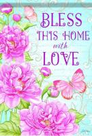 Bless This Home With Love House Flag