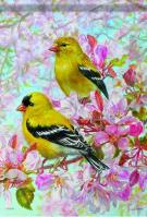 American Goldfinch Dura Soft House Flag
