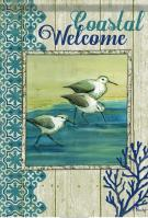 Coastal Welcome Birds House Flag