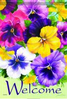Positively Pansies House Flag