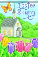 Easter Blessings Church House Flag
