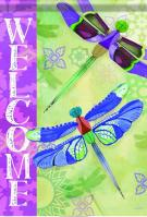Delightful Dragonflies House Flag