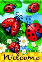 Lovely Ladybugs Dura Soft House Flag