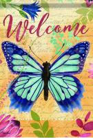 Butterfly Welcome House Flag