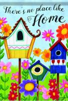 Birdhouses House Flag
