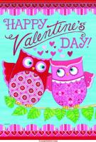 Valentine\'s Day Owls House Flag
