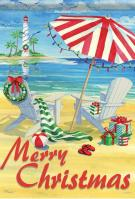 Coastal Holiday Chairs Garden Flag