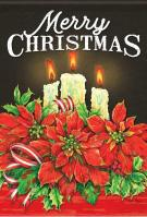 Christmas Candles Garden Flag