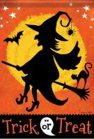 Witchy Night Garden Flag