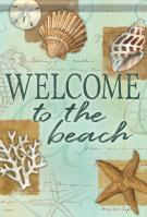 Beach Shells Garden Flag