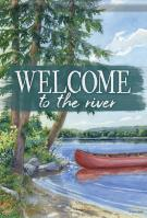 Welcome To The River Garden Flag