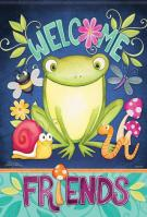 Froggy Friends Garden Flag
