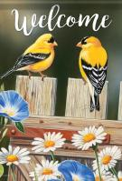 Bluebell Goldfinches Garden Flag