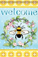 Bee Our Guest Garden Flag