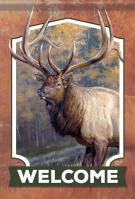 Welcome Elk Garden Flag