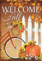 Fall Bicycle Garden Flag