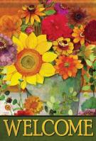 Autumn Flower Bucket Garden Flag