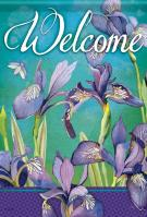 Irises In Bloom Garden Flag
