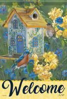 Bluebird Cottage Garden Flag