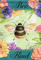 Bee Kind Flowers Garden Flag