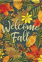 Fall Leaves Glitter Garden Flag