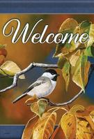 Chickadee In Focus Garden Flag