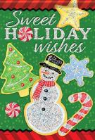Sweet Holiday Glitter Garden Flag