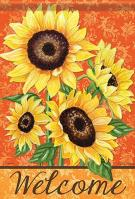 Bold Sunflowers Garden Flag