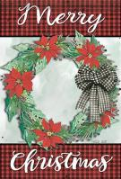 Holly Wreath Garden Flag