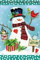 Christmas Welcome Garden Flag