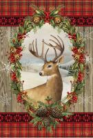 Holiday Deer House Flag