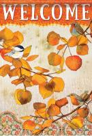 Fall Chickadees House Flag
