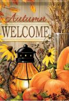 Fall Lantern Welcome House Flag
