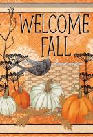 Fall Crow Welcome House Flag