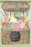 Sweet Spring Basket House Flag