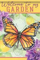 Garden Butterfly House Flag